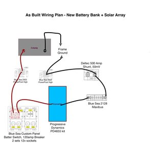 Wiring    Diagrams for bat bank  trimetric and solar upgrades