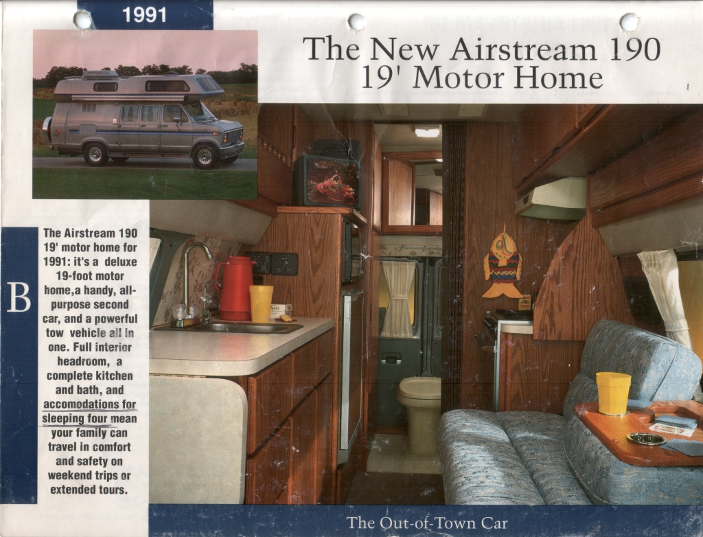 Airstream B190 Brochures And Manuals B190 Enthusiasts